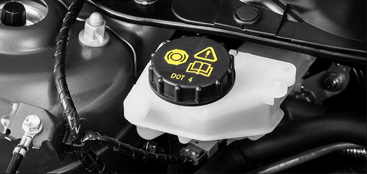 Vehicle brake fluid bottle