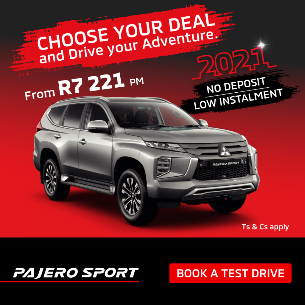Choose your deal - Pajero Sport