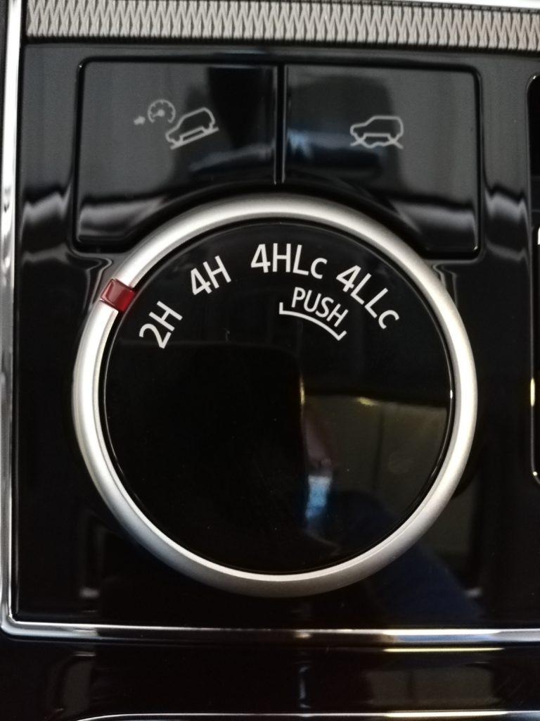 AWD and 4x4 knob
